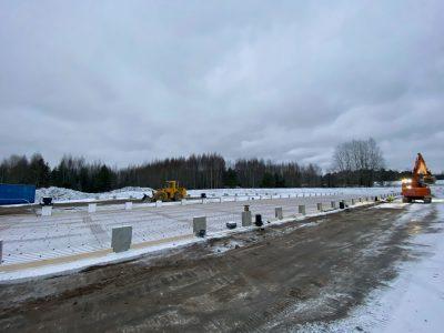 5.12.2020 Pienvarastot rakennusvaiheessa. Ahertajankuja 7B, Järvenpää.