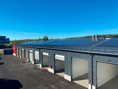 100kw aurinkosähköjärjestelmä. 27.9.2021.